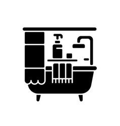 bathroom black glyph icon vector image