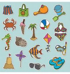 Beach stickers vector
