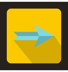 Blue right arrow icon flat style vector image