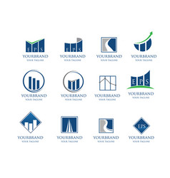 business financial logo collection vector image