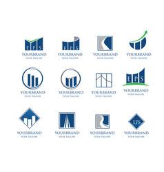 business financial logo collection vector image