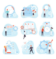 business people planning and controlling working vector image
