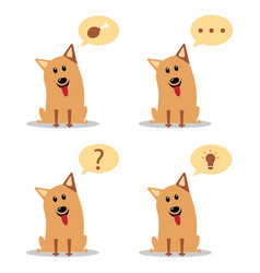 cartoon dogs with speech bubbles flat vector image