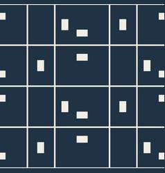 Checkered blue random seamless pattern vector