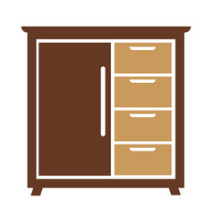 Chest of drawers icon isolated vector