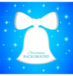 Christmas bell blueprint vector image