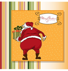 Christmas greeting card with Santa vector image