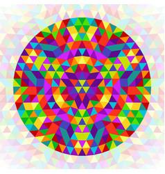 Circular geometrical triangle mandala design vector