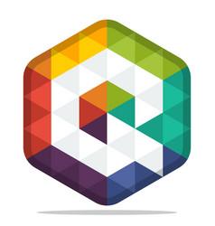 Colorful hexagon logo vector