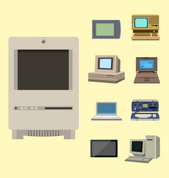 Computer technology evolution display vector