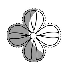 Contour beauty flower decoration vector
