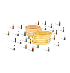 crowd-funding money financial donation crowd group vector image