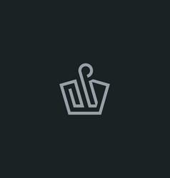 crown swan logo icon design monarch symbol vector image
