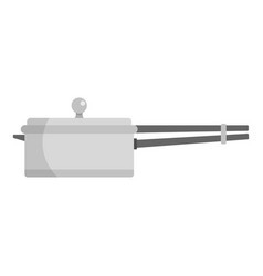 Culinary pan icon flat style vector