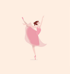 cute cartoon dancing ballerina vector image