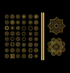 decorative ornate snowflake vector image