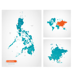 Editable template map philippines vector