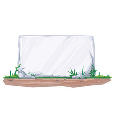 empty stone board on ground vector image