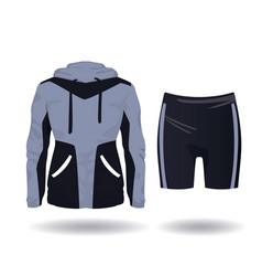 fitness sport wear for female vector image