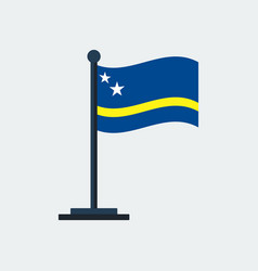 flag of curacaoflag stand vector image