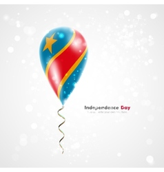 Flag of Democratic Republic of Congo on balloon vector image