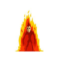 Flaming fire devil fantasy mystic creature vector