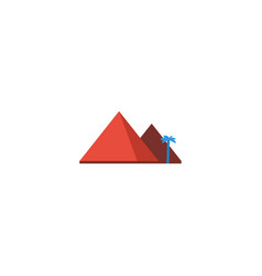 Flat icon giza element of vector