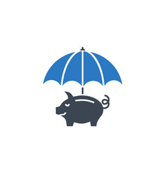 funds protect related glyph icon vector image