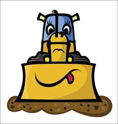 Funny Bulldozer vector image