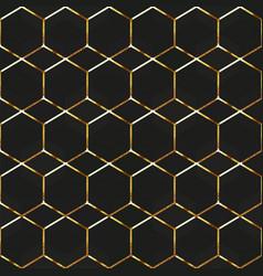 gold honeycomb frames seamless texture vector image