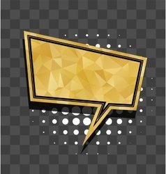 Gold sparkle square comic text balloon vector image