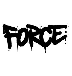 Graffiti force word sprayed isolated on white vector
