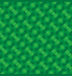 Green woven coconut leaves square pattern vector