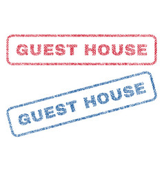 Guest house textile stamps vector
