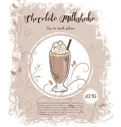 hand drawn of drinks menu pages with cup of vector image