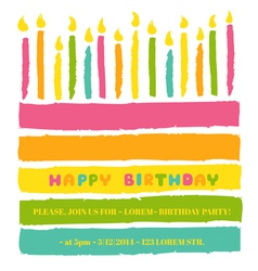 Happy birthday and party invitation card vector