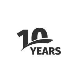 Isolated abstract black 10th anniversary logo vector