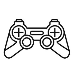 joystick icon outline style vector image