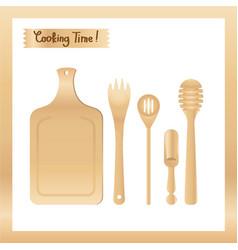 kitchen utensils 003 vector image
