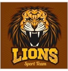 Lions - sport team logo template Lion head on the vector