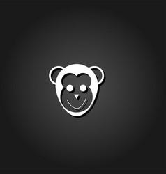 monkey head icon flat vector image