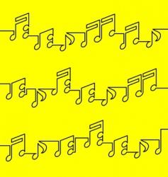 Musical notation vector