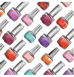 nail polish bottle pattern beauty salon vector image