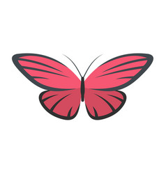 Nice butterfly icon flat style vector