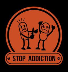 no drugs label campaign no drugs label campaign vector image