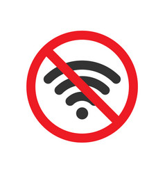 no wifi sign image vector image