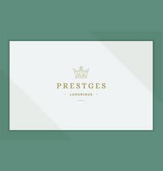 Outline emblem prestige crown line style vector