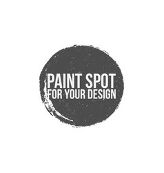paint spot circle grunge banner vector image