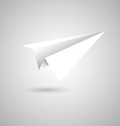 Paper plane fly on gray background vector image