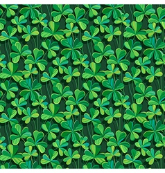 Pattern clover shadow vector